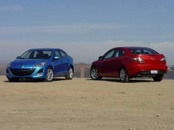 2010 Mazda3 GT (left) and GS