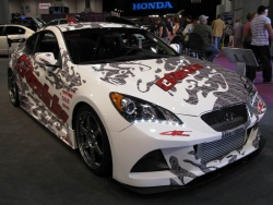 Hyundai showed several customized Genesis Coupes