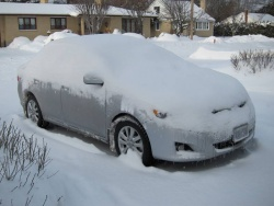 What a car looks like on an average Canadian winter morning