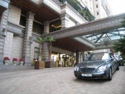 At the sumptuous Imperial Palace hotel, a customer's Maybach awaits