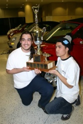 John Gonsalves and James Ryan Bachiller of Toronto with their first place trophy