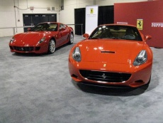 2010 Ferrari 599 GTB (left) and California