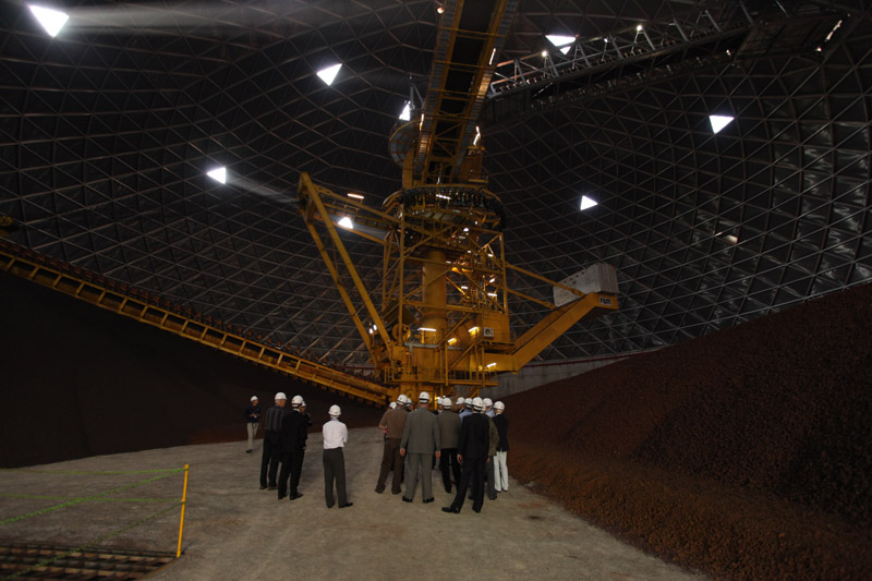 Ore storage dome at Hyundai Steel