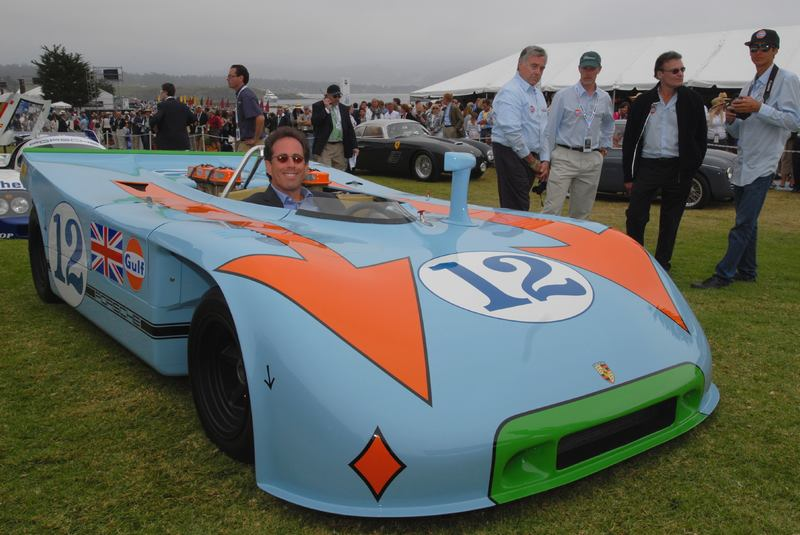 Jerry Seinfeld in a 1970 Porsche 908