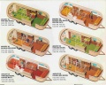 1970s Airstream Argosy trailer floorplans