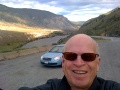 The author along Highway 1 near Cache Creek, BC