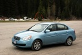 The 2006 Hyundai Accent GLS in Rogers Pass, BC
