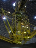 Machine used to place and mix ore under dome at Hyundai Steel