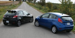 Test Drive: 2011 Ford Fiesta vs 2011 Mazda2 car test drives mazda ford car comparisons