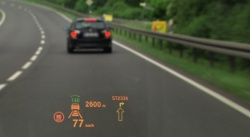 2011 BMW ActiveHybrid 7 heads-up display