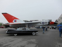1959 Cadillac and Avro Arrow replica