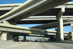 Interstate 10 at the Interstate 610 Loop in Houston, Texas.