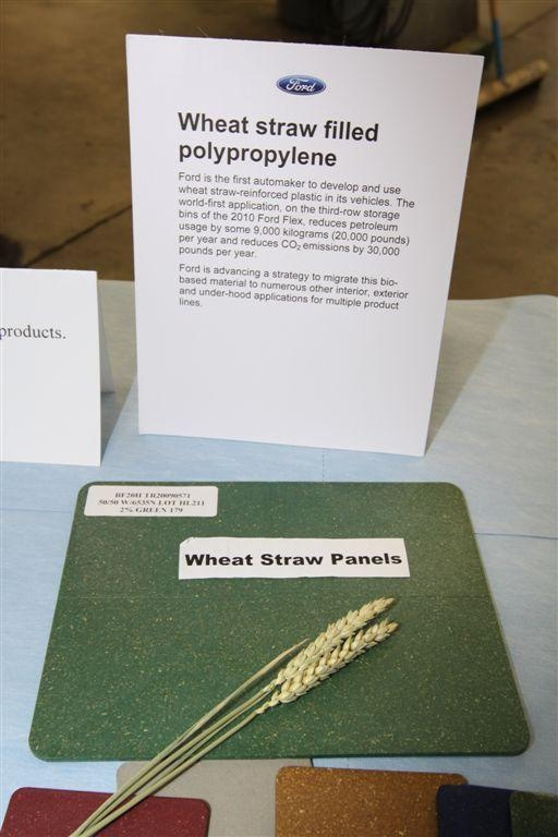 Wheat straw panels