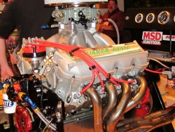 The NASCAR engine Jil helped to build