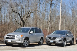 Comparison Test: Five Compact CUVs reviews mazda toyota nissan hyundai honda car comparisons