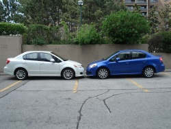 Comparison Test: Suzuki SX4 Sport Sedan   2012 vs 2008 car comparisons