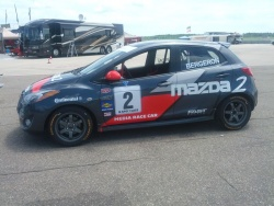 The Mazda CTCC media race car