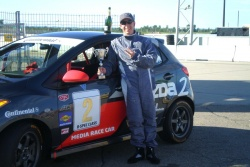 James and the Mazda CTCC media race car