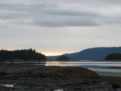 Sunrise in Haida Gwaii