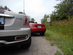 Mini Cooper S Roadster and Mazda MX-5