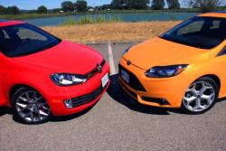 2013 Ford Focus ST vs 2013 Volkswagen Golf GTI