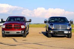 Comparison Test: 2013 Ford F-150 vs 2014 Ram 1500
