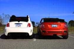 Fiat 500 Abarth Cabrio or Mini JCW Convertible