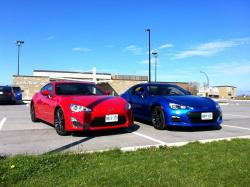 Scion FR-S (left) and Subaru BRZ