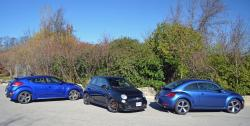 Comparison Test: Funky Front Wheel Drive Turbos reviews fiat volkswagen hyundai car comparisons