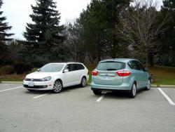 Comparison Test: 2013 Ford C Max Hybrid vs 2013 Volkswagen Golf Wagon TDI diesel volkswagen ford hybrids car comparisons