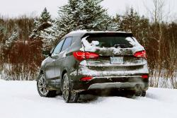 Northern Exposure: Santa Fe vs Snowstorm winter driving car test drives insights advice hyundai