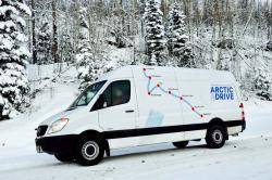 Road Trip: Mercedes Benz Sprinter Arctic Drive, Part I winter driving trucks travel car test drives mercedes benz