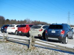 Comparison Test: Mini Crossover SUVs reviews subaru mitsubishi kia nissan chevrolet car comparisons