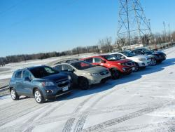 Comparison Test: Mini Crossover SUVs subaru reviews nissan mitsubishi kia car comparisons chevrolet