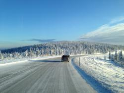 Road Trip: Mercedes Benz Sprinter Arctic Drive; Part III winter driving trucks travel car test drives mercedes benz