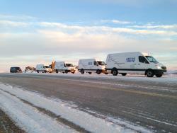 Road Trip: Mercedes Benz Sprinter Arctic Drive; Part III mercedes benz travel trucks winter driving car test drives
