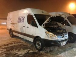 Road Trip: Mercedes Benz Sprinter Arctic Drive; Part III mercedes benz travel trucks winter driving car test drives