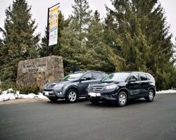 Comparison Test: 2013 Honda CR V vs. 2013 Toyota RAV4 toyota reviews honda car comparisons