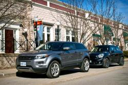 Comparison Test: Range Rover Evoque Coupe vs. Mini Paceman reviews mini luxury cars landrover car comparisons