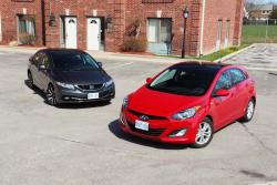 Comparison Test: Honda Civic vs Hyundai Elantra GT reviews hyundai honda car comparisons