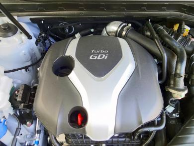2014 Kia Optima SX Turbo engine bay