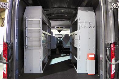2014 Ford Transit converted cargo area
