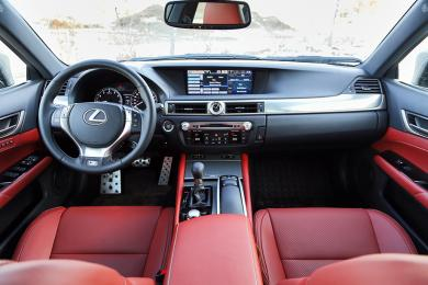 2014 Lexus GS 350 AWD F Sport dashboard