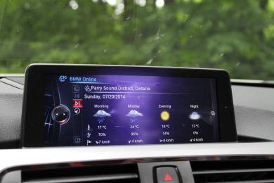 2014 BMW 428i xDrive Cabriolet centre stack display