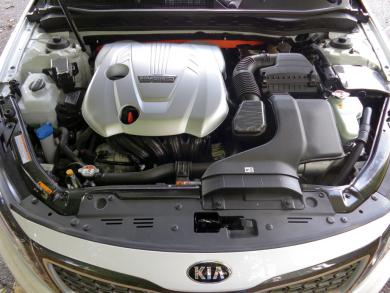 2014 Kia Optima Hybrid engine bay