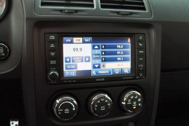 2014 Dodge Challenger R/T Shaker radio menu