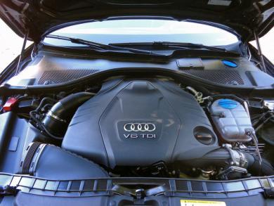 2014 Audi A6 TDI engine bay