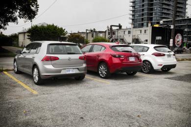 2014 Kia Forte5 vs 2015 Mazda3 vs 2015 Volkswagen Golf