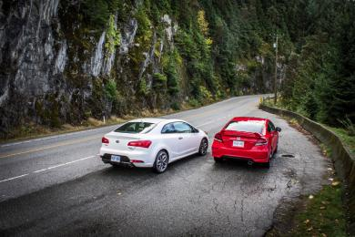 2014 Honda Civic Si vs Kia Forte Koup