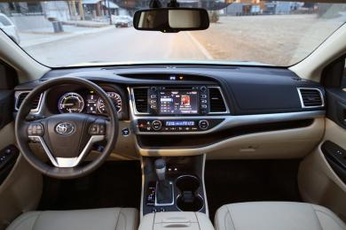 2014 Toyota Highlander Hybrid XLE AWD full dash